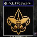 Boy Scouts Logo Decal Sticker Metallic Gold Vinyl 120x120