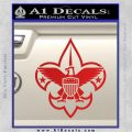 Boy Scouts Logo Decal Sticker Red Vinyl 120x120