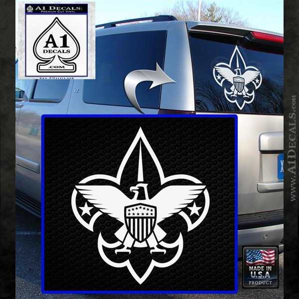 Boy Scouts Logo Decal Sticker White Emblem