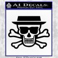Breaking Bad Heisenberg Walter White Skull Decal Sticker Black Logo Emblem 120x120