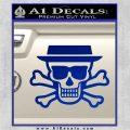 Breaking Bad Heisenberg Walter White Skull Decal Sticker Blue Vinyl 120x120