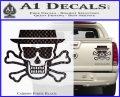 Breaking Bad Heisenberg Walter White Skull Decal Sticker Carbon Fiber Black 120x97