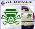Breaking Bad Heisenberg Walter White Skull Decal Sticker Green Vinyl 120x97