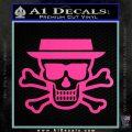Breaking Bad Heisenberg Walter White Skull Decal Sticker Hot Pink Vinyl 120x120