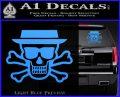 Breaking Bad Heisenberg Walter White Skull Decal Sticker Light Blue Vinyl 120x97