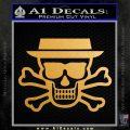 Breaking Bad Heisenberg Walter White Skull Decal Sticker Metallic Gold Vinyl 120x120