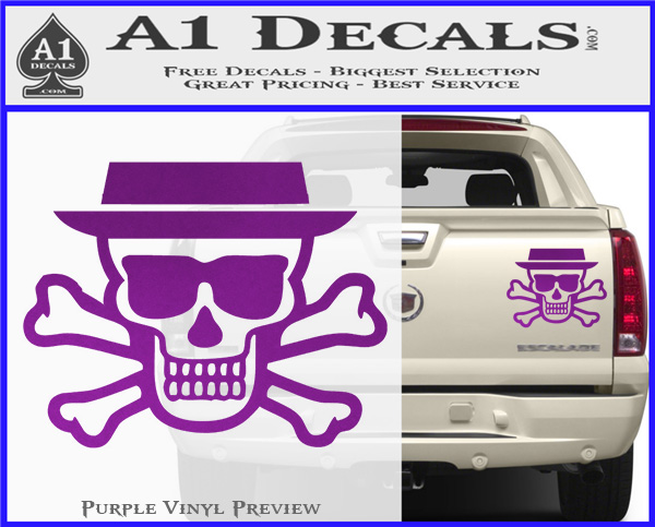 Breaking Bad Heisenberg Walter White Skull Decal Sticker A1 Decals