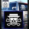Breaking Bad Heisenberg Walter White Skull Decal Sticker White Emblem 120x120