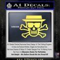 Breaking Bad Heisenberg Walter White Skull Decal Sticker Yelllow Vinyl 120x120