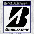 Bridgestone Tires Logo Decal Sticker Stacked Black Logo Emblem 120x120
