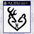 Browning Heart Doe Deer Baby Black Logo Emblem 120x120