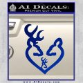 Browning Heart Doe Deer Baby Blue Vinyl 120x120