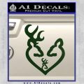 Browning Heart Doe Deer Baby Dark Green Vinyl 120x120
