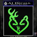Browning Heart Doe Deer Baby Lime Green Vinyl 120x120