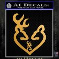 Browning Heart Doe Deer Baby Metallic Gold Vinyl 120x120