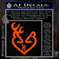 Browning Heart Doe Deer Baby Orange Vinyl Emblem 120x120