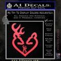 Browning Heart Doe Deer Baby Pink Vinyl Emblem 120x120