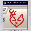 Browning Heart Doe Deer Baby Red Vinyl 120x120