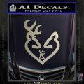 Browning Heart Doe Deer Baby Silver Vinyl 120x120
