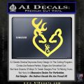 Browning Heart Doe Deer Baby Yelllow Vinyl 120x120