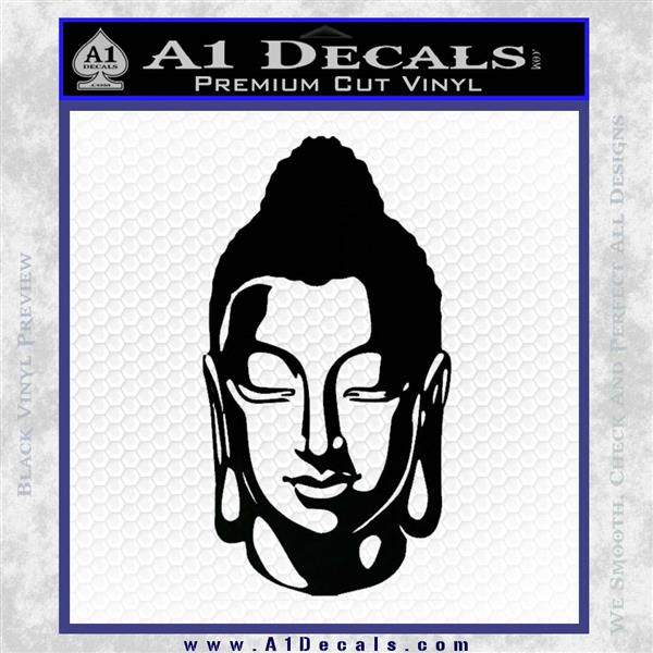 Buddah Head Decal Sticker Black Logo Emblem