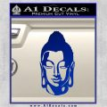 Buddah Head Decal Sticker Blue Vinyl 120x120