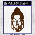 Buddah Head Decal Sticker Brown Vinyl 120x120