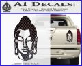 Buddah Head Decal Sticker Carbon Fiber Black 120x97