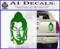 Buddah Head Decal Sticker Green Vinyl 120x97