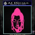 Buddah Head Decal Sticker Hot Pink Vinyl 120x120