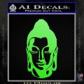 Buddah Head Decal Sticker Lime Green Vinyl 120x120