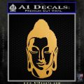 Buddah Head Decal Sticker Metallic Gold Vinyl 120x120
