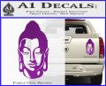 Buddah Head Decal Sticker Purple Vinyl 120x97