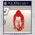 Buddah Head Decal Sticker Red Vinyl 120x120