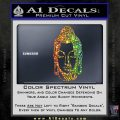 Buddah Head Decal Sticker Sparkle Glitter Vinyl 120x120