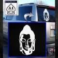 Buddah Head Decal Sticker White Emblem 120x120