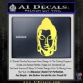 Buddah Head Decal Sticker Yelllow Vinyl 120x120