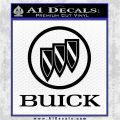 Buick Motors Stacked Decal Sticker Black Logo Emblem 120x120
