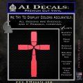 Bullet Cross Crucifix Decal Sticker D4 Pink Vinyl Emblem 120x120