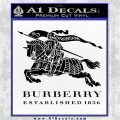Burberry Logo Decal Sticker Black Logo Emblem 120x120