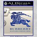 Burberry Logo Decal Sticker Blue Vinyl 120x120
