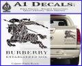 Burberry Logo Decal Sticker Carbon Fiber Black 120x97
