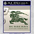 Burberry Logo Decal Sticker Dark Green Vinyl 120x120