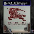 Burberry Logo Decal Sticker Dark Red Vinyl 120x120