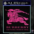Burberry Logo Decal Sticker Hot Pink Vinyl 120x120