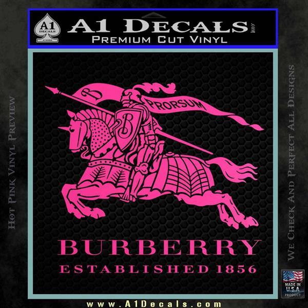 Burberry Logo Decal Sticker D1 187 A1 Decals
