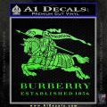 Burberry Logo Decal Sticker Lime Green Vinyl 120x120