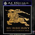 Burberry Logo Decal Sticker Metallic Gold Vinyl 120x120