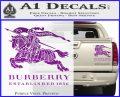 Burberry Logo Decal Sticker Purple Vinyl 120x97