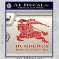 Burberry Logo Decal Sticker Red Vinyl 120x120